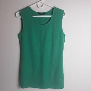 Misook sleeveless shirt tank shell side slits